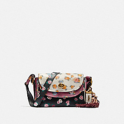 COACH X TABITHA SIMMONS CROSSBODY 17 IN COLORBLOCK WITH MEADOW ROSE PRINT - BLACK MULTI/BRASS - COACH 78709