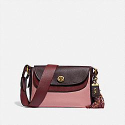 COACH X TABITHA SIMMONS CROSSBODY IN COLORBLOCK - LIGHT BLUSH MULTI/BRASS - COACH 78712