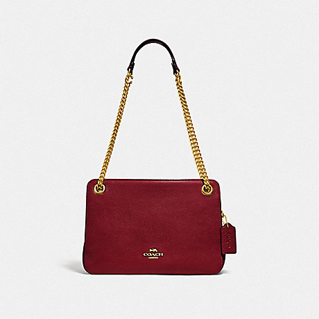 COACH BRYANT CONVERTIBLE CARRYALL - BRASS/DEEP RED - 78798