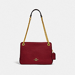 BRYANT CONVERTIBLE CARRYALL - BRASS/DEEP RED - COACH 78798