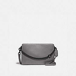 SIGNATURE CHAIN CROSSBODY - V5/HEATHER GREY - COACH 78801