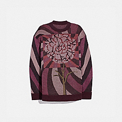 SWEATER WITH KAFFE FASSETT CARNATION PRINT - MULTI - COACH 78937