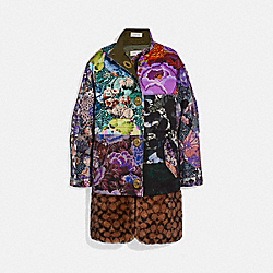 PATCHWORK PARKA WITH KAFFE FASSETT PRINT AND REMOVABLE SIGNATURE SHEARLING LINER - MULTI - COACH 79003