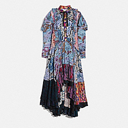 PATCHWORK DRESS WITH KAFFE FASSETT PRINT - MULTI - COACH 79040