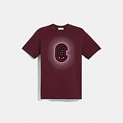 COACH T-SHIRT - BURGUNDY - COACH 79064