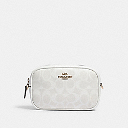 CONVERTIBLE BELT BAG IN SIGNATURE CANVAS - IM/CHALK/GLACIERWHITE - COACH 79209