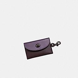 Turnlock Card Case in Colorblock - DUSTY LAVENDER MULTI - COACH 79232G