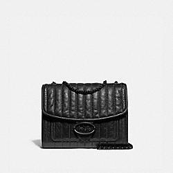 MELODY SHOULDER BAG 29 WITH QUILTING - V5/BLACK - COACH 79242