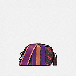CAMERA BAG 16 WITH HORSE AND CARRIAGE PRINT AND VARSITY STRIPE - V5/BLACK OXBLOOD - COACH 79368