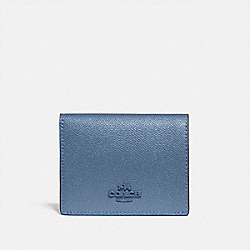 SMALL SNAP WALLET - BRASS/STONE BLUE - COACH 79427