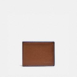 SLIM BILLFOLD WALLET - SADDLE/SPORT BLUE - COACH 79451