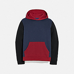 POP HORSE AND CARRIAGE HOODIE - NAVY/DARK CARDINAL - COACH 79512