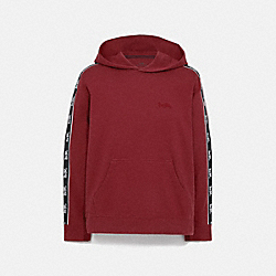 HORSE AND CARRIAGE TAPE HOODIE - DARK CARDINAL - COACH 79518