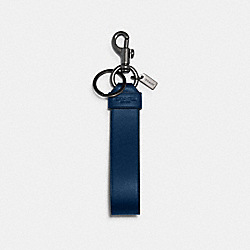 LARGE LOOP KEY FOB - QB/TRUE BLUE BLACK - COACH 79798