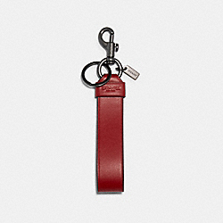 LARGE LOOP KEY FOB - QB/1941 RED BLACK MULTI - COACH 79798