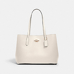 LARGE AVENUE CARRYALL - IM/CHALK LIGHT SADDLE - COACH 79988