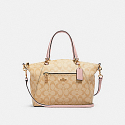 PRAIRIE SATCHEL IN SIGNATURE CANVAS - IM/LIGHT KHAKI BLOSSOM - COACH 79998