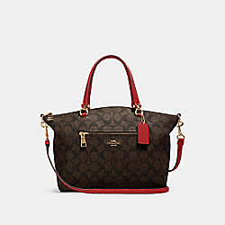 PRAIRIE SATCHEL IN SIGNATURE CANVAS - IM/BROWN 1941 RED - COACH 79998