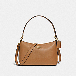 LEWIS SHOULDER BAG - IM/LIGHT SADDLE - COACH 80058