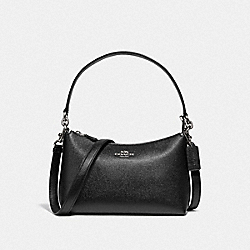 LEWIS SHOULDER BAG - SV/BLACK - COACH 80058