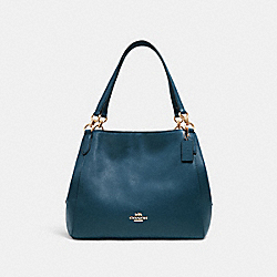 HALLIE SHOULDER BAG - IM/PEACOCK - COACH 80268