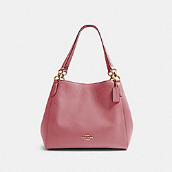 HALLIE SHOULDER BAG - IM/ROSE - COACH 80268