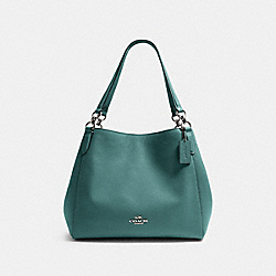 HALLIE SHOULDER BAG - SV/DARK TURQUOISE - COACH 80268