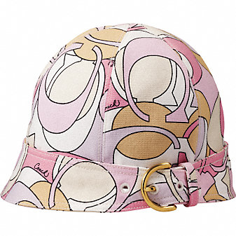 Coach Official Site - COACH SOHO PRINT LYDIA HAT :  design leather gifts accessories lydia