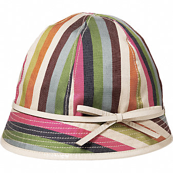 Coach Official Site - THE LEGACY STRIPE TARA HAT :  neutral trend online gifts stripe coach