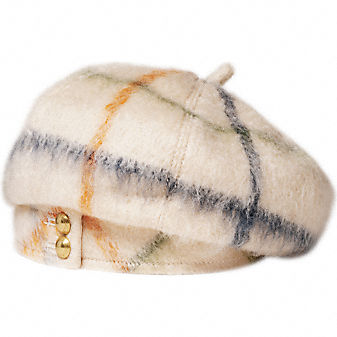 Coach Official Site - THE TATTERSALL ZOE BERET :  chic totes official cap