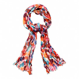 Watercolor Dot Oblong Scarf
