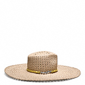 BRAIDED FLOPPY HAT
