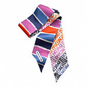 COACH DOUBLE STRIPE PONYTAIL SCARF