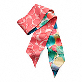 Watercolor Dot Ponytail Scarf