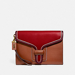 COURIER WRISTLET IN COLORBLOCK - B4/RED APPLE MULTI - COACH 837