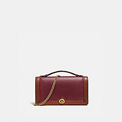 RILEY CHAIN CLUTCH - B4/LIGHT MAROON MULTI - COACH 838