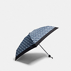 MINI UMBRELLA WITH HORSE AND CARRIAGE PRINT - DENIM - COACH 84671