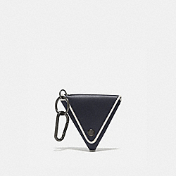 TRIANGLE COIN POUCH - MIDNIGHT/BONE - COACH 858