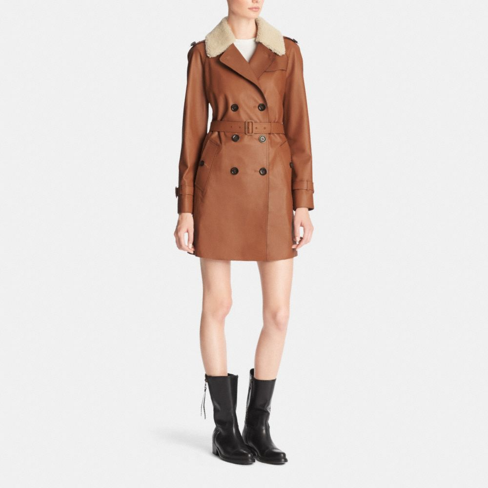 ICON LEATHER TRENCH - Alternate View M1