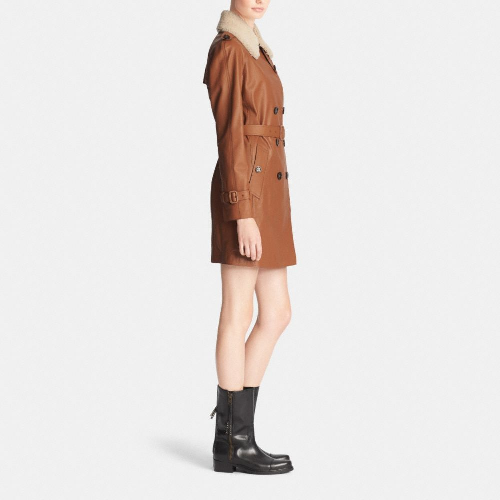 ICON LEATHER TRENCH - Alternate View