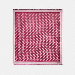 HORSE AND CARRIAGE OVERSIZED SQUARE SCARF - BRIGHT CHERRY - COACH 85977