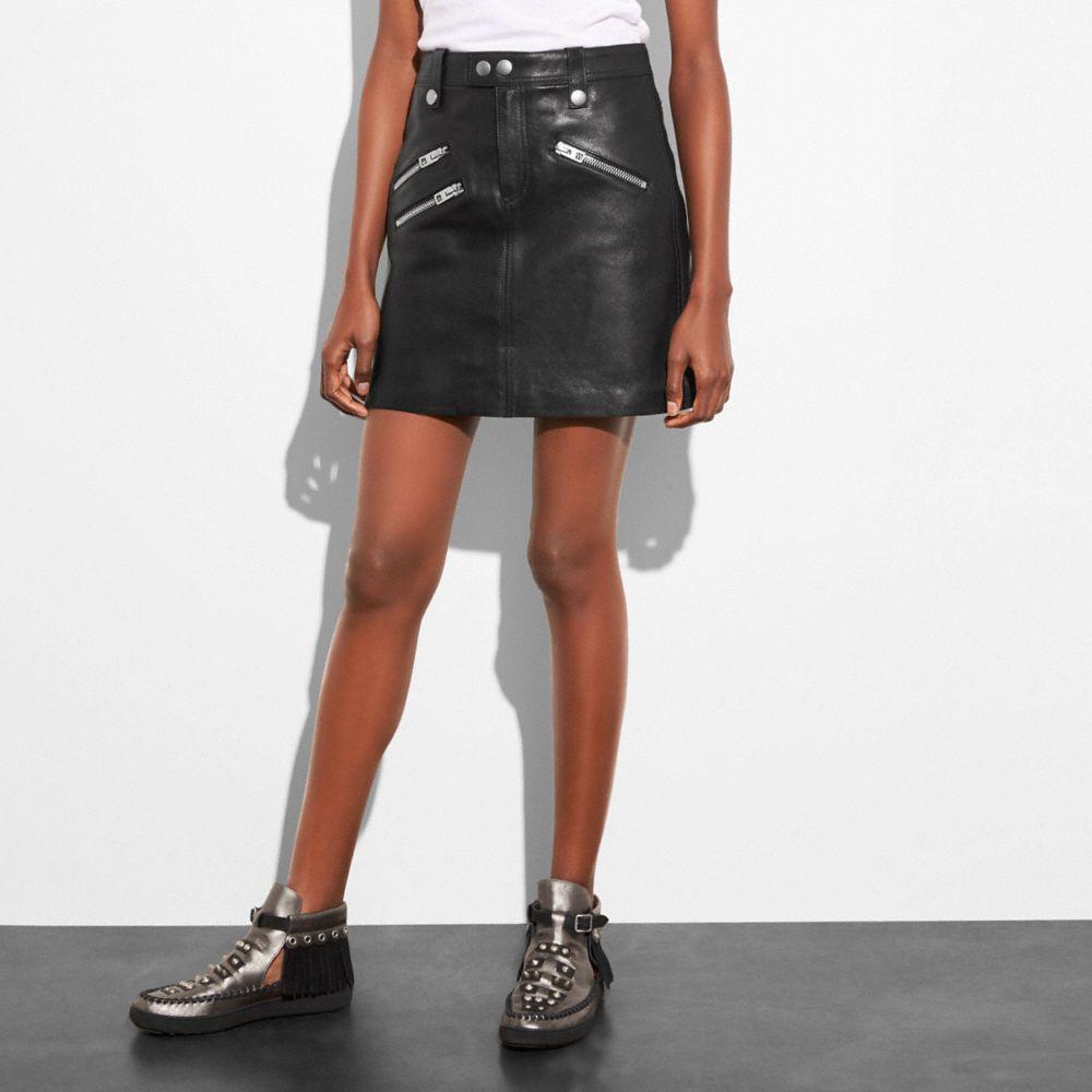 Multi Zip Skirt - Alternate View A1