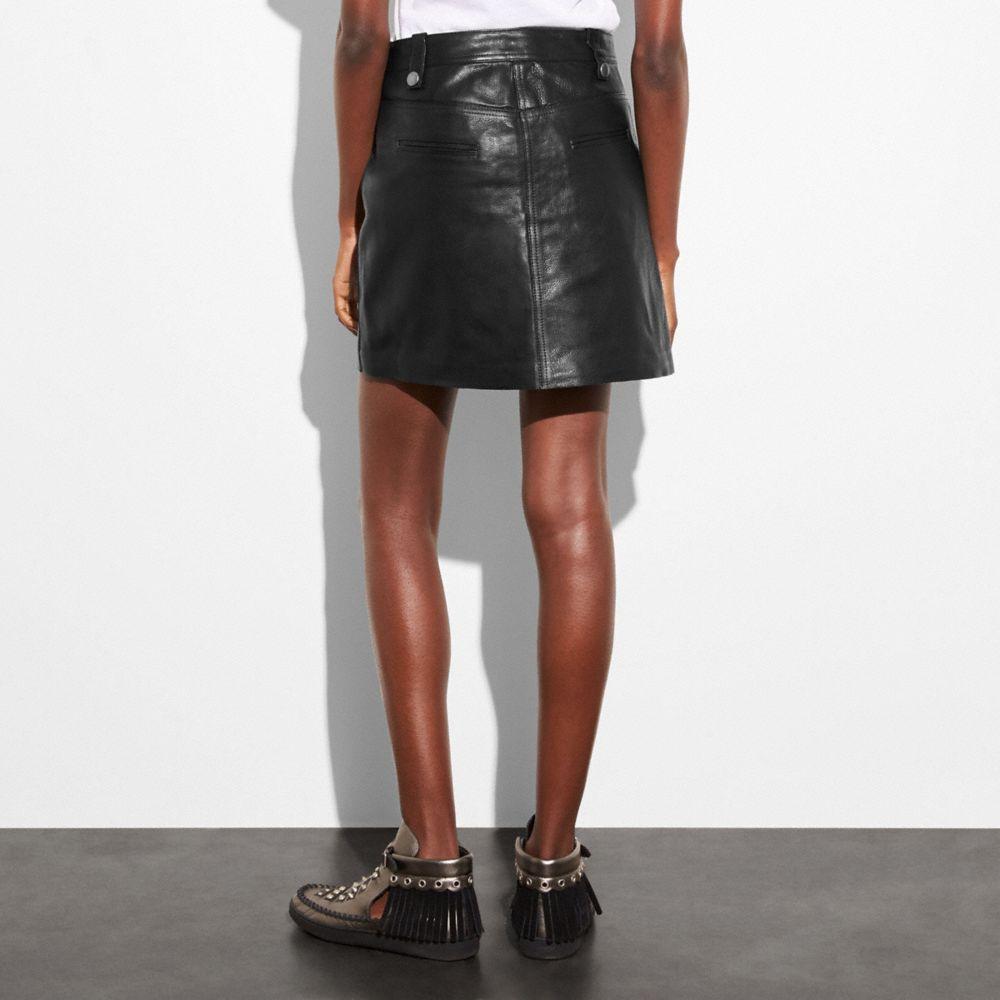 Multi Zip Skirt - Alternate View M1