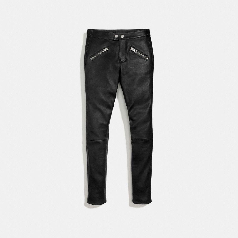 Zip Pocket Leather Pant