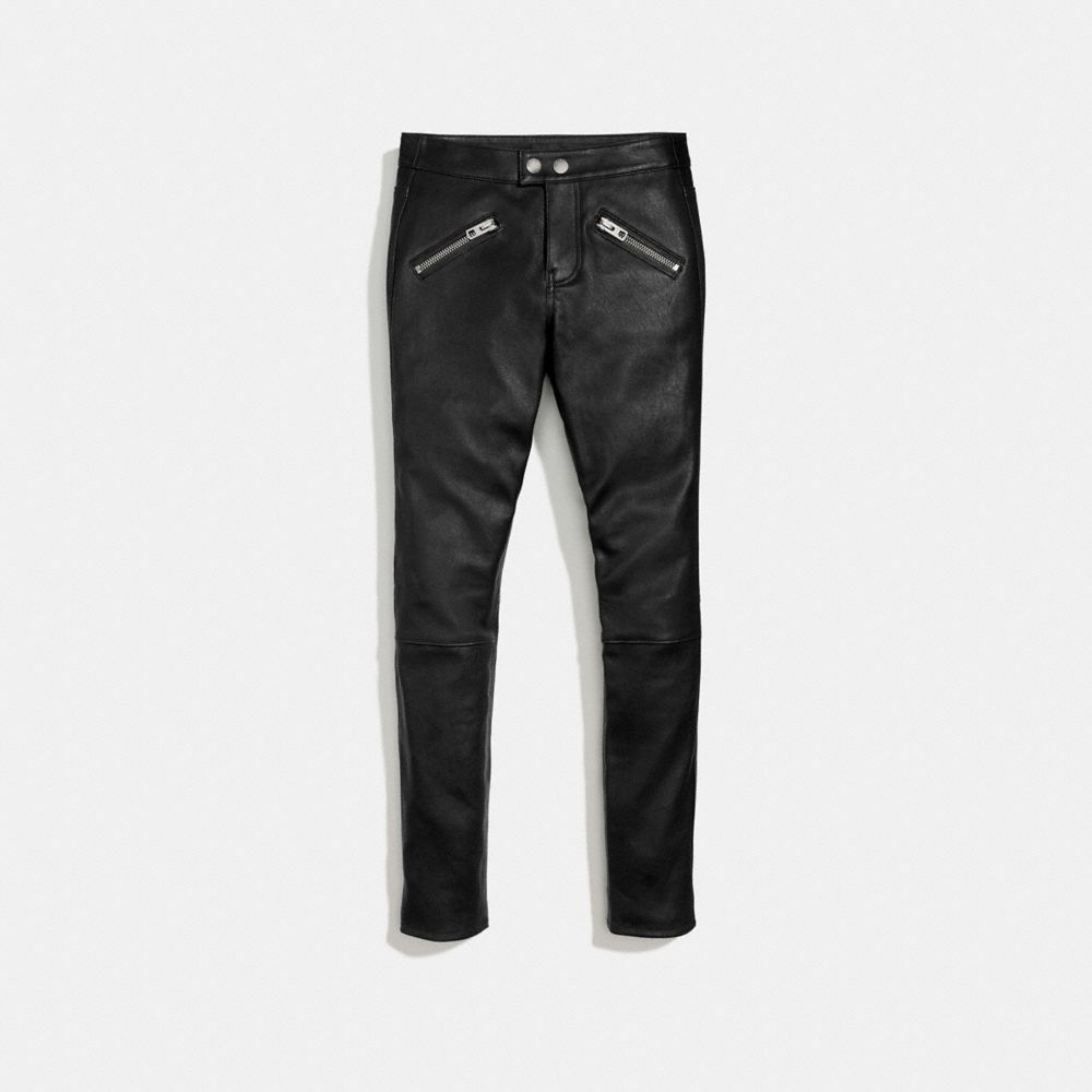 Coach Zip Pocket Leather Pant