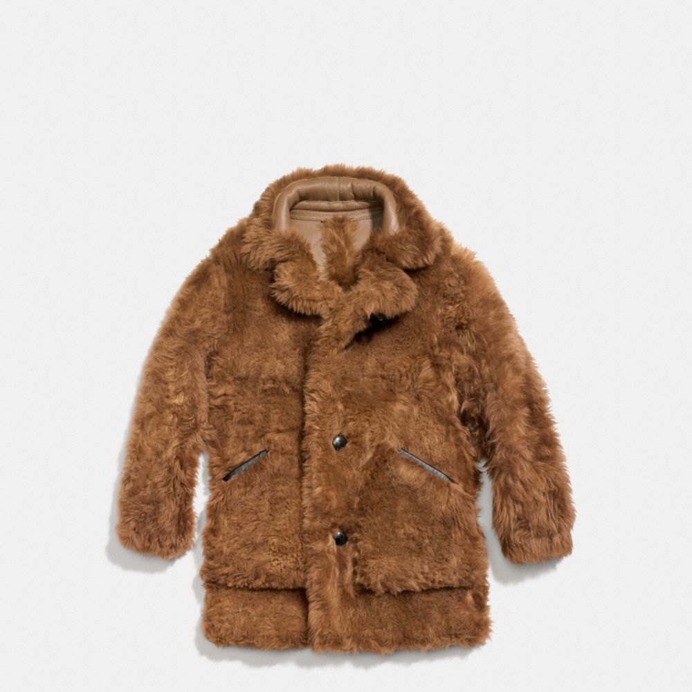 TOY SOLDIER SHEARLING PIECED COAT - Alternate View