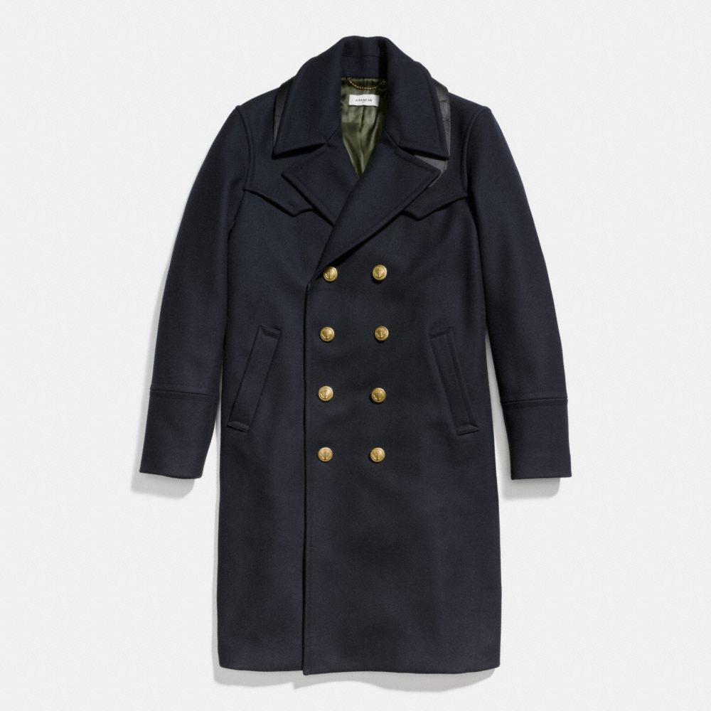 WOOL CAPTAINS COAT - Alternate View