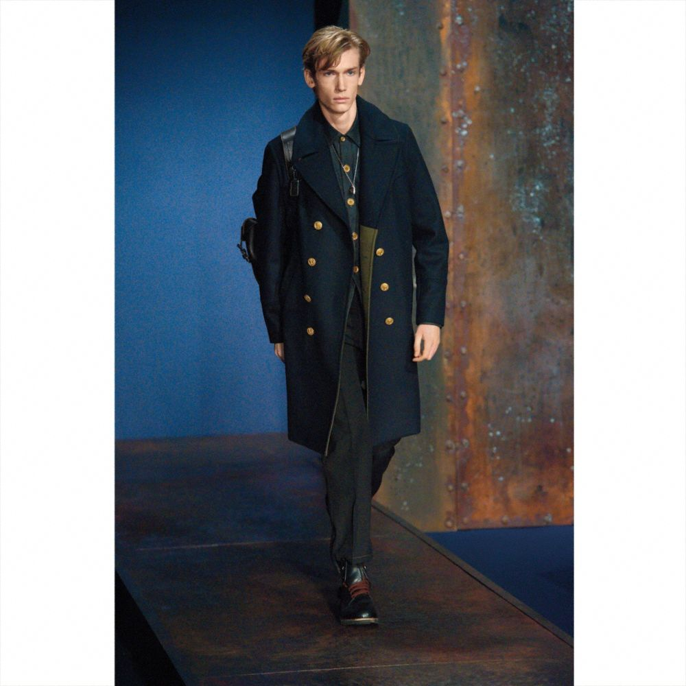 Wool Captains Coat - Alternate View M1