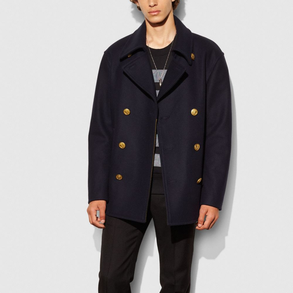 WOOL MARINERS COAT - Alternate View
