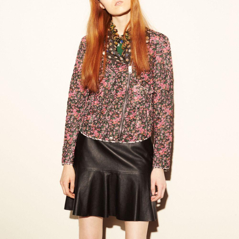 Fluid Leather Skirt